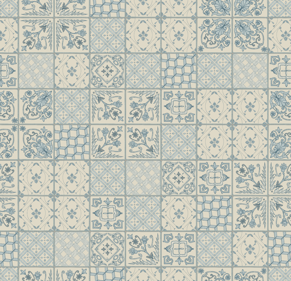 Positano Tiles by Patricia Braune, with Tutto colourway